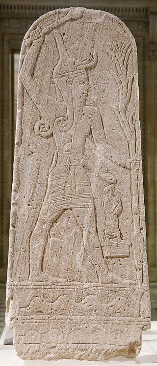 2 gedeon et la lutte anti baal stele de baal retrouvee a ugarit louvre ao15775 public domain